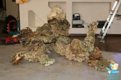 Фрагмент рифа. Сборная конструкция из живых камней.